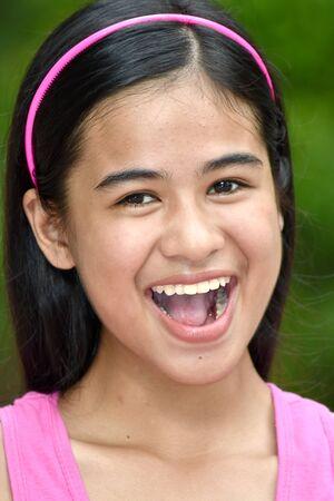 An A Happy Youthful Minority Female