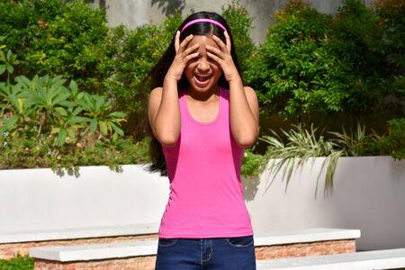 A Filipina Teen Girl Under Stress