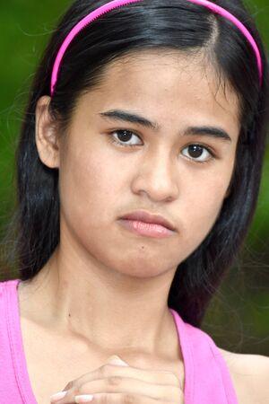 An Angry Cute Filipina Female Juvenile