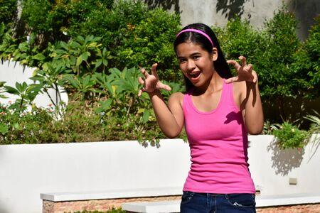 An An Intimidating Filipina Female Juvenile Stock fotó - 131527162