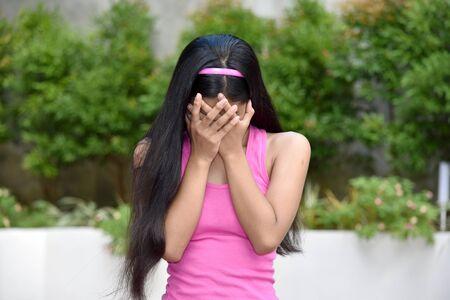 An An Ashamed Cute Minority Girl Imagens - 131527160