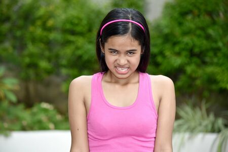 An A Stressed Young Minority Female Imagens - 131527167