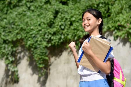 A Proud Beautiful Diverse School Girl