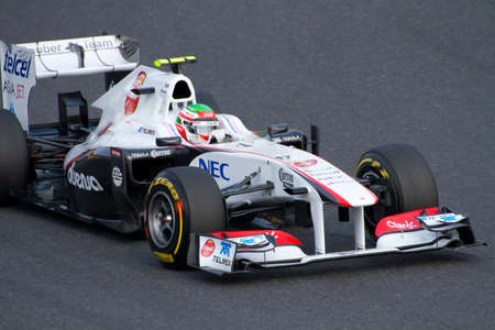 sergio: SUZUKA, JAPAN - OCTOBER 7 : Sergio Perez of Sauber during free practice at 2011 Formula 1 Japanese Grand Prix on October 7, 2011 in Suzuka, Japan.