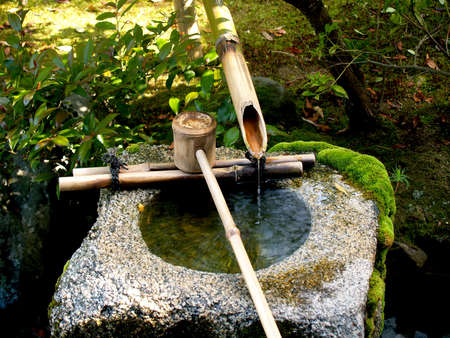 beauty fountain: Traditional Bamboo Fountain in Japan