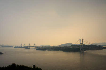honshu: Great Seto Bridge connecting Honshu and Shikoku islands in Japan