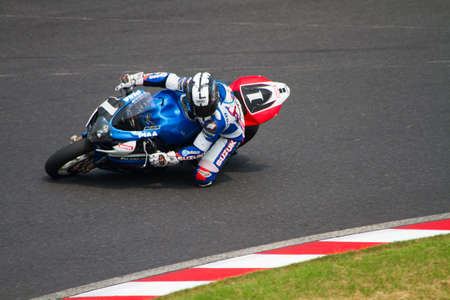 SUZUKA, JAPAN - July 29 : Rider of SUZUKI ENDURANCE RACING TEAM (15th place team) racing at 2012 Suzuka 8 hours World Endurance Championship Race, on July 29, 2012 in Suzuka Circuit, Japan.