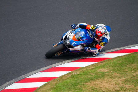 cornering: SUZUKA, JAPAN - July 29 : Rider of Moto Map SUPPLY (4th place team) racing at 2012 Suzuka 8 hours World Endurance Championship Race, on July 29, 2012 in Suzuka Circuit, Japan.