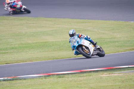 superbike: SUZUKA, JAPAN - July 28 : Rider of Team KAGAYAMA (3rd place team. Kevin Schwantz and Noriyuki Haga belongs) racing at Suzuka 8 hours World Endurance, on July 28, 2013 in Suzuka Circuit, Japan.