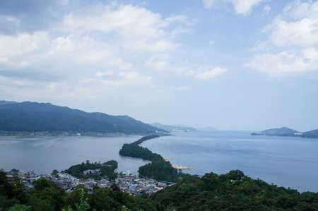 sandbar: Sandbar of Amanohashidate one of Japan s three scenic views  in Kyoto, Japan  Stock Photo