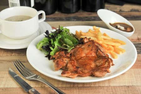 Close up of Chicken Chop Banco de Imagens