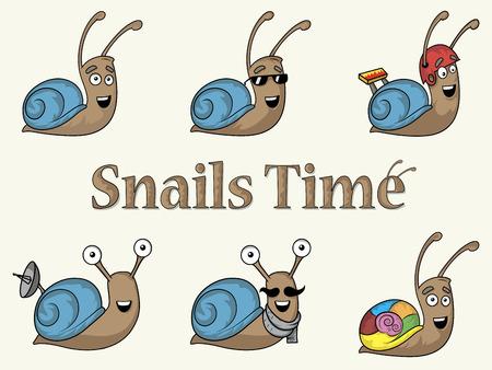 Snails background design clothing and style vector illustration Illustration