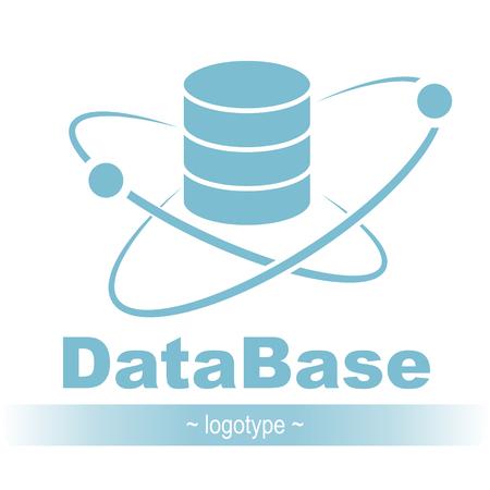 Database icon. Simple flat logo of database 03 vector