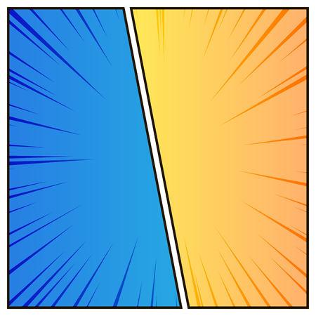 Comic styled background. Colorful versus page, vector