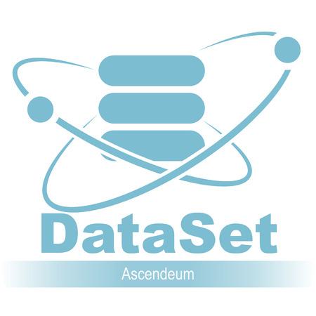 Database icon. Simple flat logo of database 04 vector Illustration