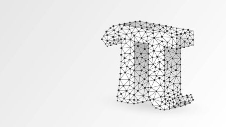 Pi, the letter of a Greek alphabet. Greek numerals, mathematical number eighty concept. Abstract, digital, wireframe, low poly mesh, vector wite origami 3d illustration. Triangle, line, dot Stok Fotoğraf - 132028783