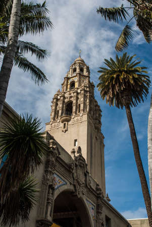 balboa: California Tower, historic building located in Balboa Park, central San Diego California. The tower was built for the 1915 16 Panama-California Exposition and served as the grand entry to the Expo.