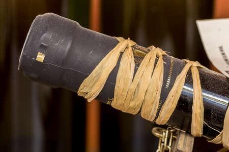 packaged cork wine bottles Stock Photo