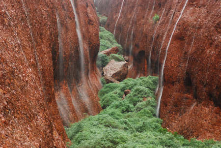 The Olgas in Waterfall Stock Photo - 12902474