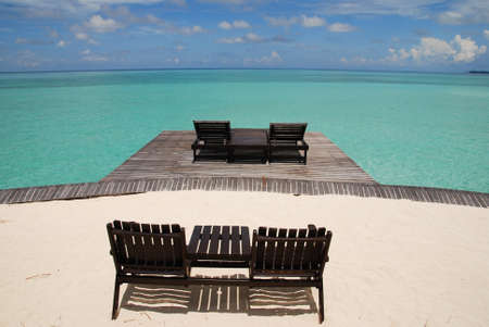 celebes: Deck Chairs Over Looking The Celebes Sea