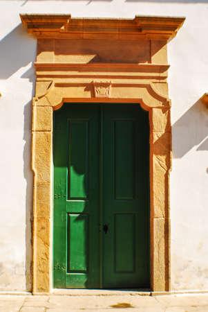 Bright Green Door Sandstone Trim photo