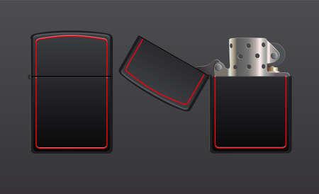 gas lighter: gas lighter illustration Illustration
