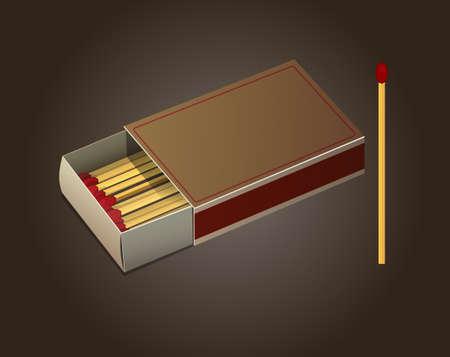 matchbox: Matchbox and Matches. Illustration