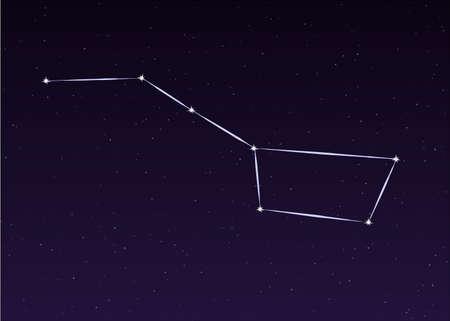 dipper: Big Dipper Ursa Major sky constellation illustration Illustration