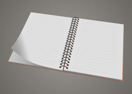 spiral notebook: Blank realistic spiral notepad notebook isolated illustration Illustration
