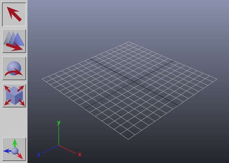 computer animation: Stylized generic 3D application interface illustration