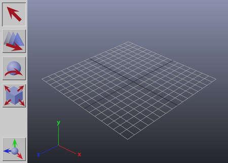 parametric: Stylized generic 3D application interface illustration