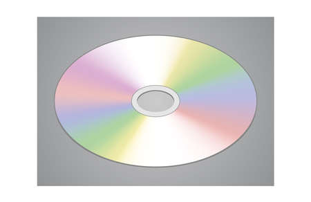 Realistic CD or DVD disk isolated illustration Illustration