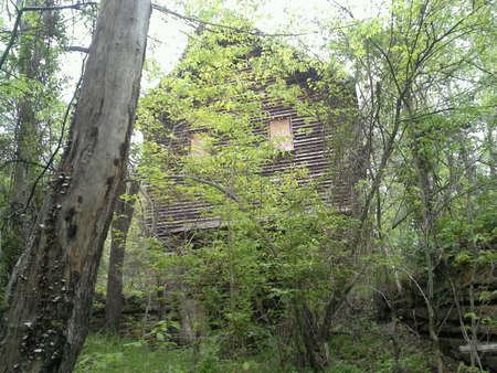supposedly: Supposedly haunted abandoned mill  White Falls near Gretna, VA Stock Photo