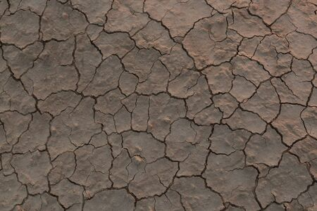 Dry cracked earth in the desert, concept of global warming climate.