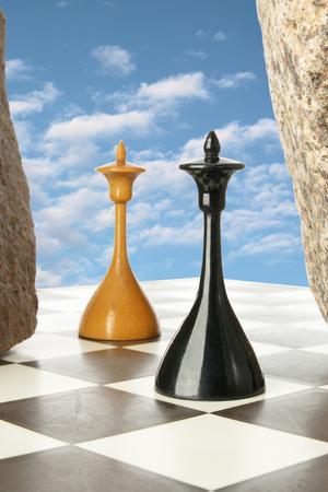 illusory: The illusory chess island soaring in the sky
