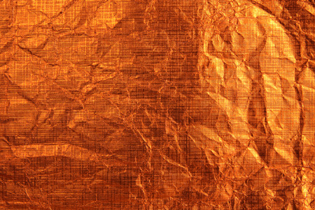 Background from orange metallic paper