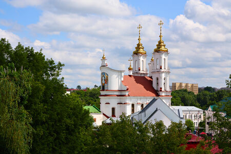 assumption: Vitebsk, Belarus. Wiew on Resurrection Church from Holy Assumption Cathedral