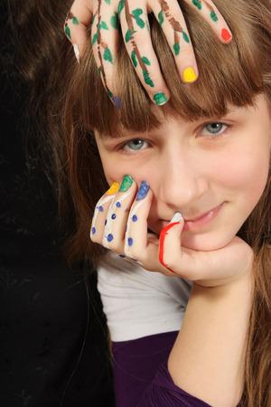Portret van creatieve het meisje Stockfoto