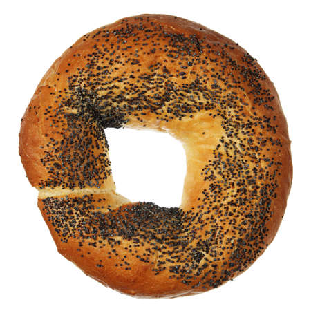 pone: Bagel with poppy isolated on a white background