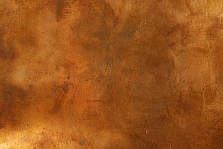 青銅のシート メタルからグランジ背景 写真素材