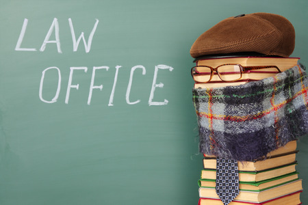 law office: Law office, fun legal concept Stock Photo