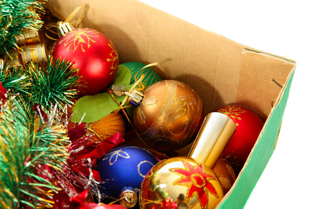tawdry: Christmas-tree decoration in pasteboard box