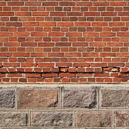 fastness: Background. Antique wall from brick and stone