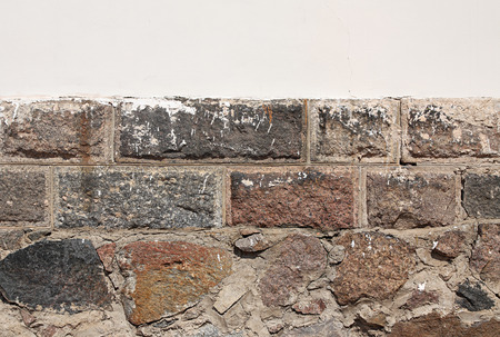 fastness: Background. Antique wall from stone and whitening wall