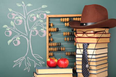 tree of knowledge: Tree of knowledge education concept with unusual teacher