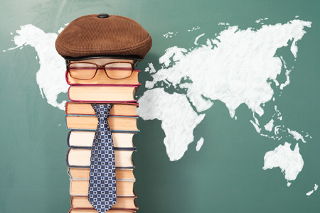 cognition: World map and unusual teacher