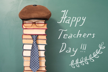 Happy teachers day funny concept Standard-Bild
