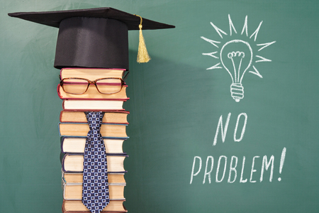 problem: NO PROBLEM, funny education concept