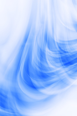Art abstract futuristic curl pattern, motion blue background Stock Photo