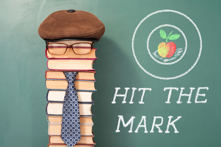 Hit the mark, funny education concept